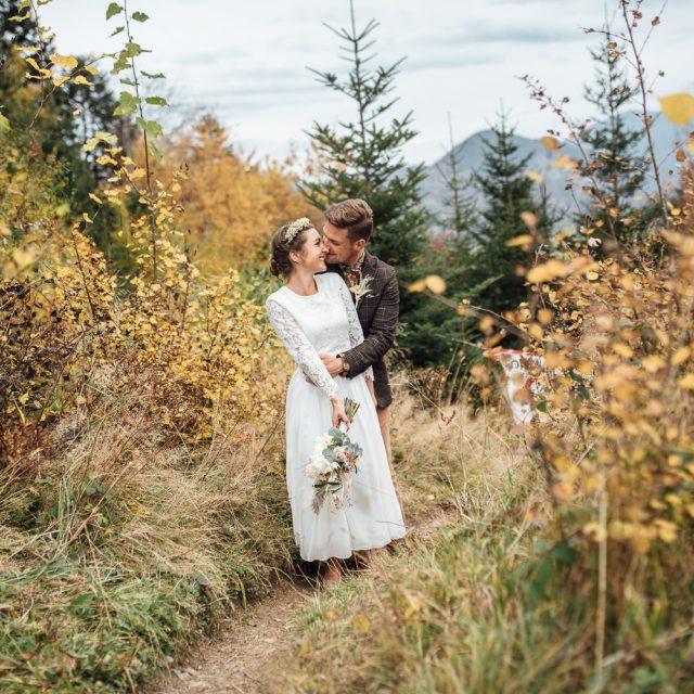 Hochzeitsfotograf für standesamtliche Berghochzeit am Huberspitz bei Miesbach