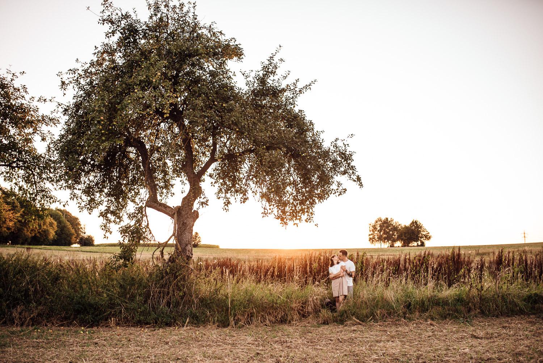 Paarbilder im Sonnenuntergang vom Fotograf im Allgäu